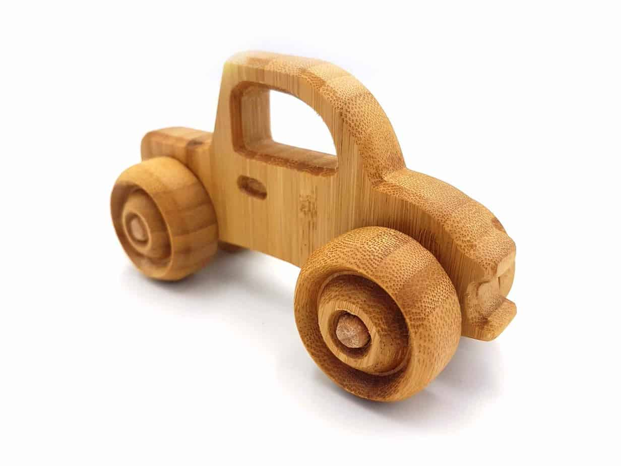 Details about  /Handmade Wooden toy car old classic antiquary natural wood decoupage ecological